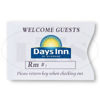 Days Inn Keycard Envelopes