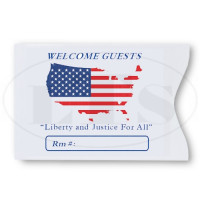 US Flag Map Keycard Envelopes