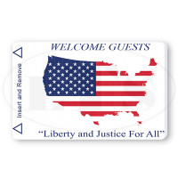 Generic US Flag Map Magstripe Keycards