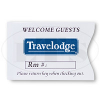 Travelodge Keycard Envelopes