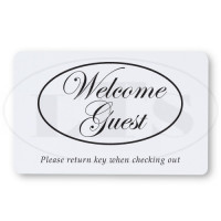 Generic Welcome Guest RFID Keycards